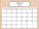 2017-2018 Editable Pink & Gold Calendar