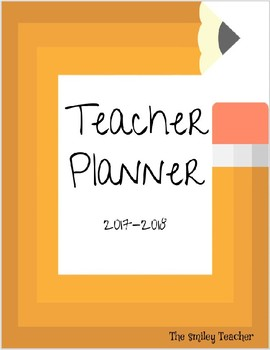 2017-2018 Editable Teacher Planner