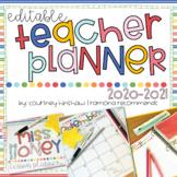2020-2021 Editable Teacher Planner