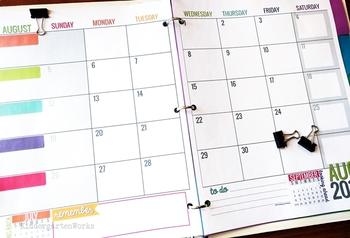 calendar template editable
