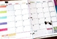 2017-2018 Editable Teacher Planning Calendar Template