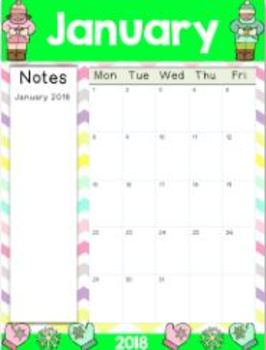 2017-2018 Editable Teacher & Student Calendars