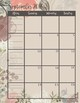 2017-2018 Floral Calendars Two Page Version