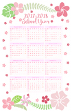 2017-2018 Floral School Year Calendar at a Glance - All Ages
