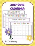 2017-2018 Full School Year Calendar