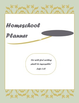 2017-2018 Fully Customizable Homeschool Planner with Lesson Plans up to 4 kids