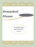 2017-2018 Fully Customizable Homeschool Planner with Lesso