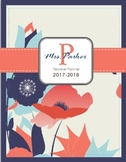 2017-2018 High School Teacher Planner [Vintage Floral]