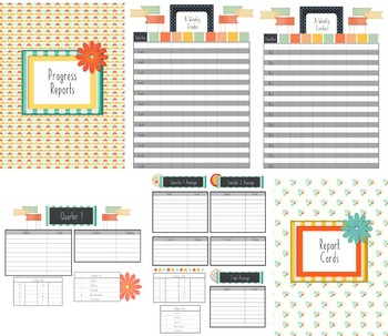 Home School Planner and 2017-2018 Record Book (Bright Day)