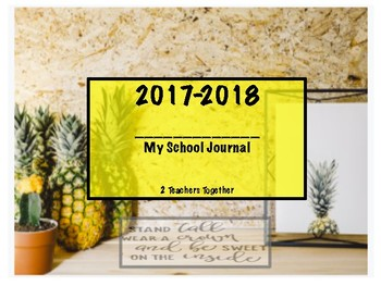2017-2018 Journal Prompts - Pineapple Themed