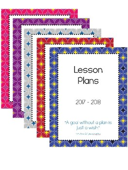 2017-2018 Lesson Plan Book - 1 Subject