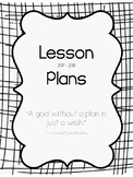 2017-2018 Lesson Plan Book - 2 Subject - Black & White