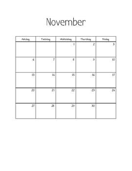 2017-2018 Meetings Calendar