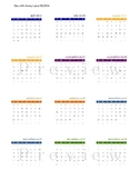 2017-2018 Mini Calendar (for use with EC Teacher Planner)
