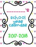 2017-2018 Mon.-Fri. Calendar