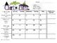 2017-2018 Monthly Behavior Calendar Log