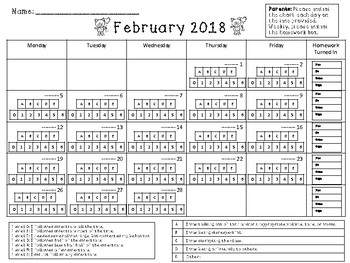 Spring 2018 Monthly Behavior Chart Calendars