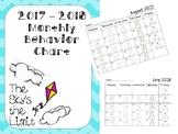 2017-2018 Monthly Behavior Chart Animal Theme