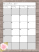 2017-2018 Monthly and Weekly SLP Planner Editable Covers: Rustic Theme