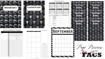 2017-2018 New Chalkboard Planner