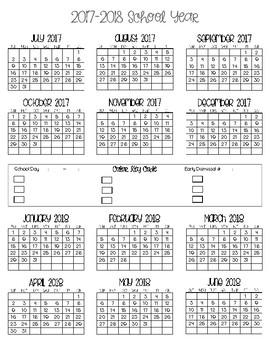 2017-2018 Full Overview Calendar Year