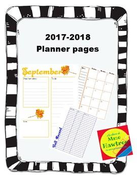 2017-2018 Planner