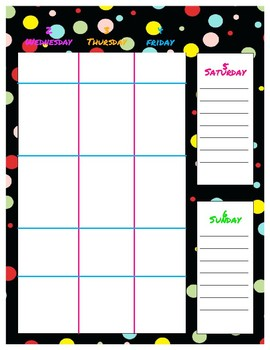 2017-2018 Planner Polka Dots