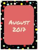 2017-2018 Planner Polka Dots