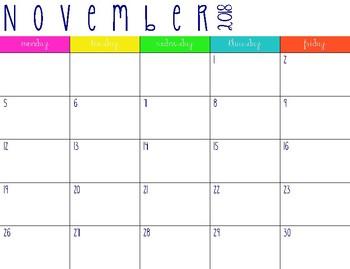 2018-2019 Planning Calendar