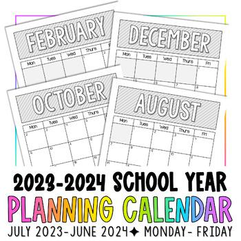 2018-2019 Planning Calendar - FREEBIE