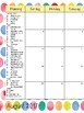 2017-2018 Polka-Dot Calendar - Editable