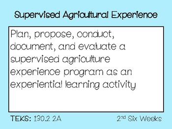 2017 - 2018 Principles of Agriculture Objective Posters