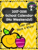 FREE 2017-2018 Printable School Calendar (Color and Black