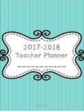 2017-2018 Printable Teacher Binder Planner