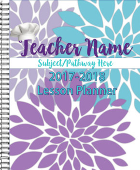2017-2018 Purple and Teal Planner