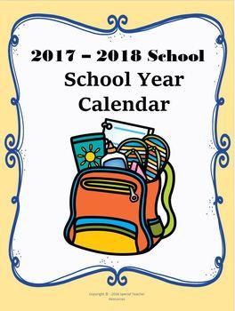 2017-2018 Reading Logs and Calendar