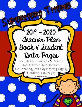SUPERHERO Teacher Plan Book