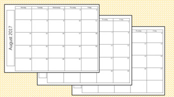 2017-2018 SY planning pages