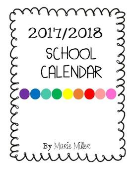 2017/2018 School Calendar