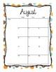 2017-2018 School Calendar (Aqua Blue Orange  Brown)