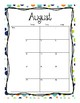 2017-2018 School Calendar (Navy Blue Orange Green)