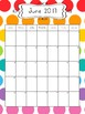 2017-2018 School Calendar - Rainbow Colors