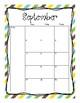 2017-2018 School Calendar (Sunflowers)
