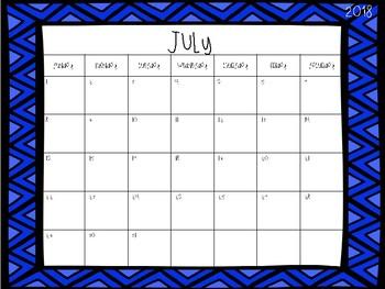 2017-2018 School Calendars Freebie