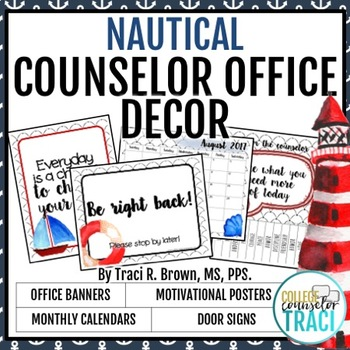 2017 - 2018 School Counselor Office Decor (Nautical)