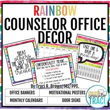 2017 - 2018 School Counselor Office Decor (Rainbow)