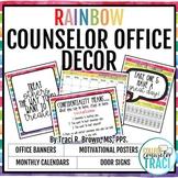 2018 - 2019 School Counselor Office Decor (Rainbow)