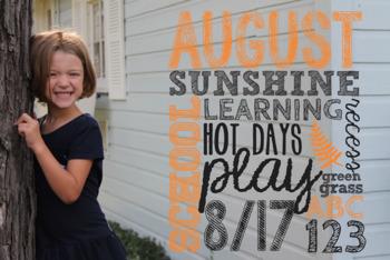 2017-2018 School Days Photo Overlays