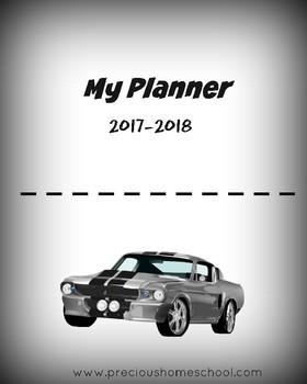 2017-2018 School Planner- CAR Themed