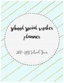 2017-2018 School Social Worker Planner - Mint & Gold